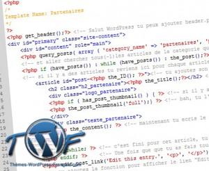 template page wordpress